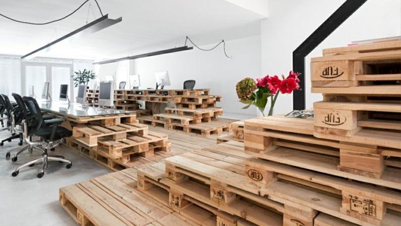 Офисная мебель из поддонов